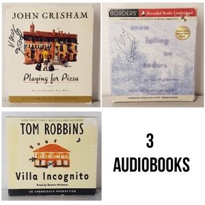 3 Used Audiobooks Set (John Grisham, Tom Robbins)